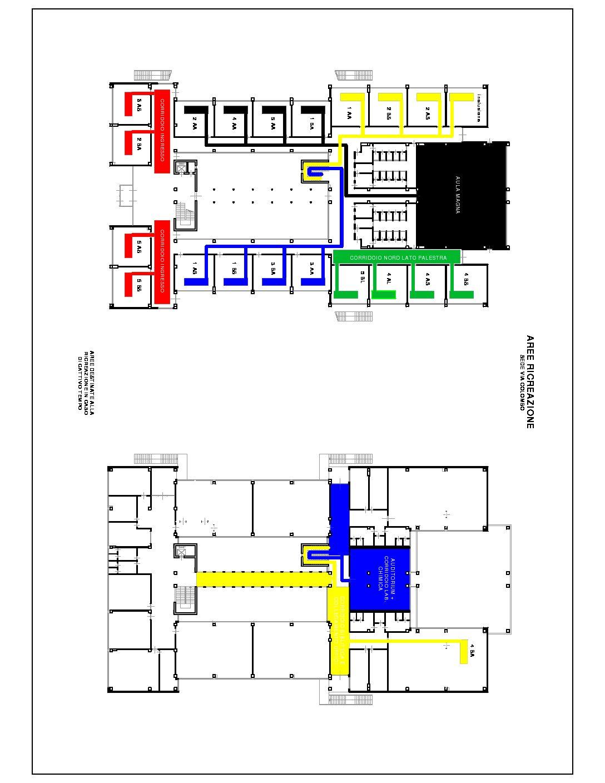 Pianta ricreazione interna Colombo COVID 2021-22